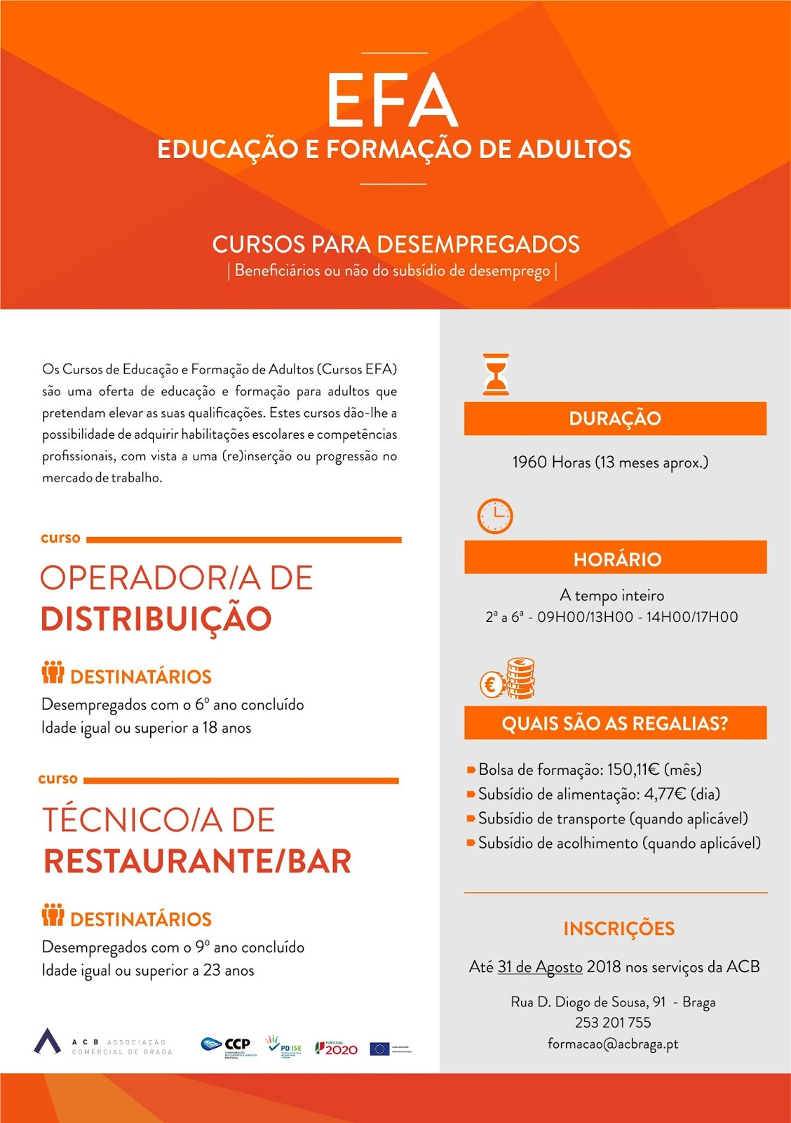 cursos efa financiados Braga
