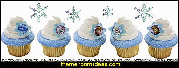 Disney Frozen Cupcake Rings  Frozen themed birthday party ideas - Disney Princess Costumes - Disney Frozen Party Supplies Elsa, Anna, Olaf  - Disney Frozen theme - Frozen Birthday Invitations - frozen party supplies winter wonderland theme - snowflake themed birthday party - frozen costume - Frozen costumes - Frozen Elsa costumes -