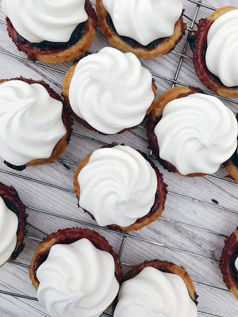 jam tarts with meringue tops