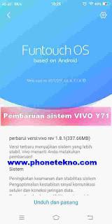 Cara dan fungsi pembaruan sistem VIVO V9