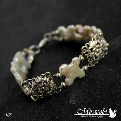 Miracolo, perły, pearl bracelet