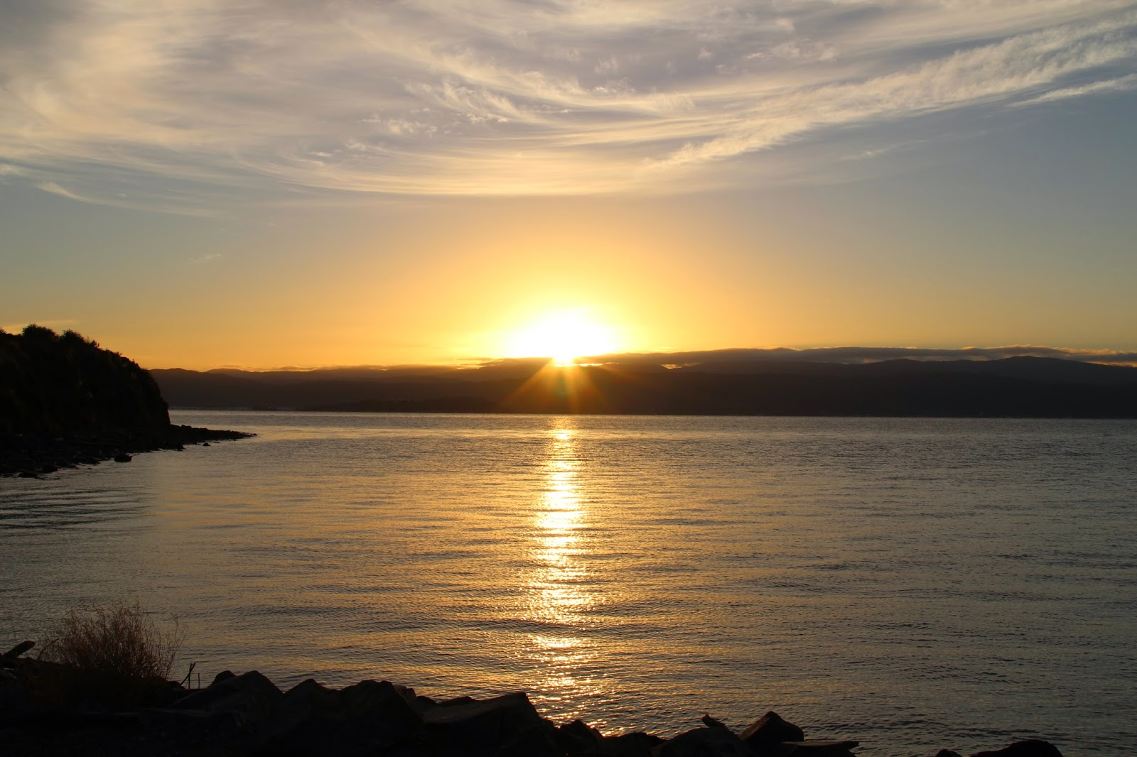 Cook Strait Sunrise New Zealand