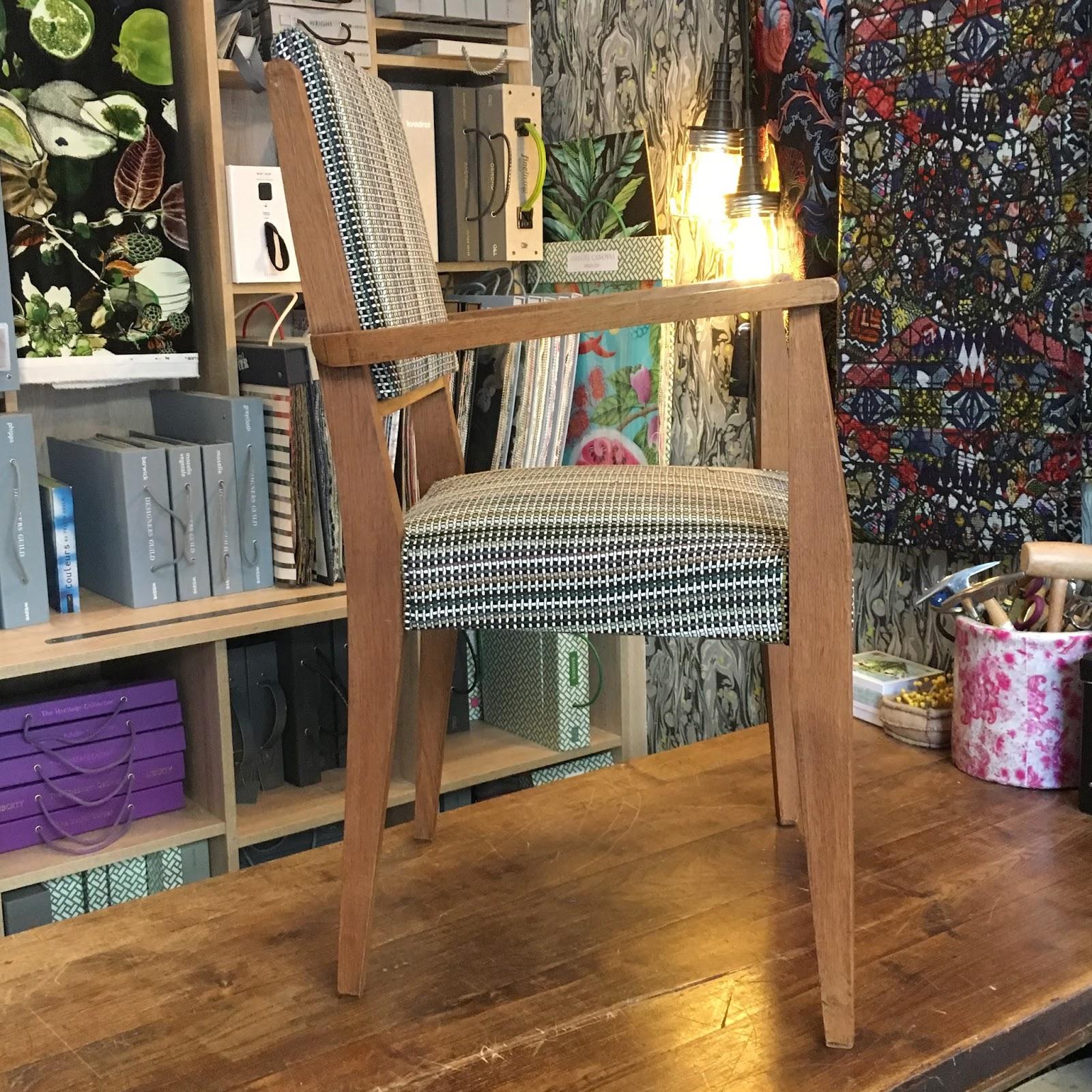 atelier anne lavit artisan tapissier d corateur 69007 lyon fauteuil de bureau 50 39 s. Black Bedroom Furniture Sets. Home Design Ideas