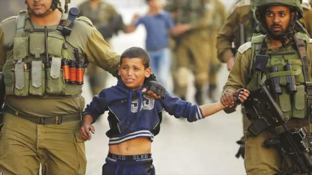 Israel detiene a 651 niños palestinos desde inicio de 2018