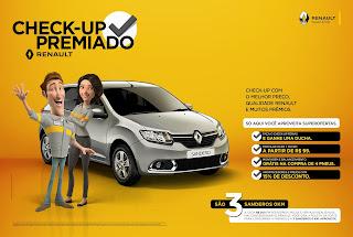 Promoção Check Up Premiado Renault