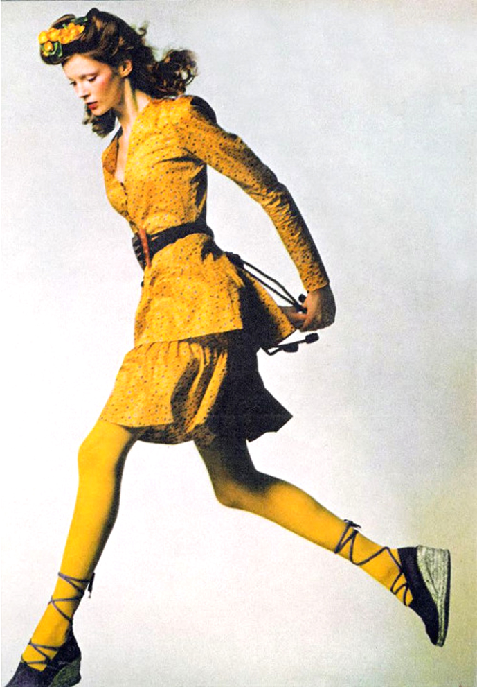Yves Saint Laurent in Vogue UK 1971 via www.fashionedbylove.co.uk