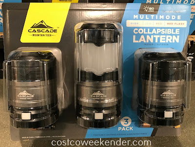Keep the Cascade Mountain Tech Collapsible Lanterns all over the house in case of emergency