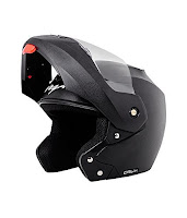 Vega Black Crux Flip-up Helmet