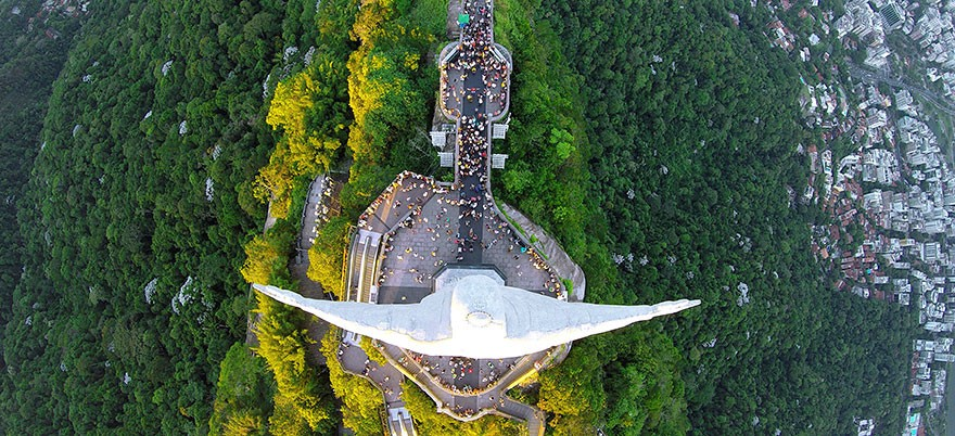 4. Famous Christ The Redeemer Statue In Rio De Janeiro, Brazil - 12 of The Most Stunning Images Captured By Drones In 2015