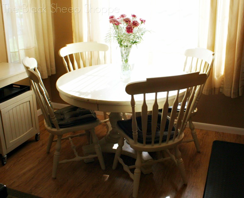 Table and chair set painted with Old Ochre chalk paint.