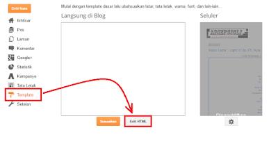 menghapus tanda Obeng dan Tang Pada Blog