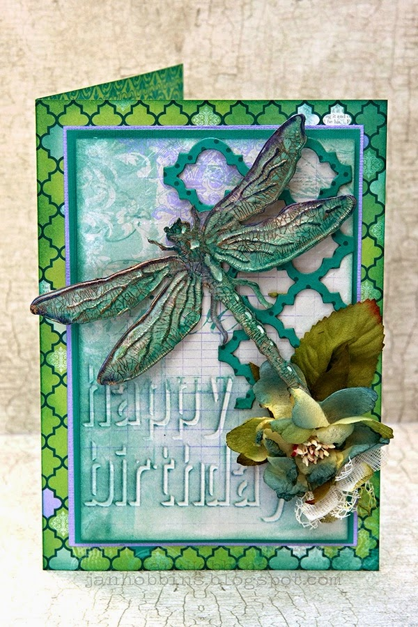 Dragonfly Card In My Own Imagination