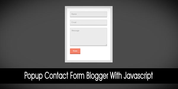 Popup Contact Form Blogger