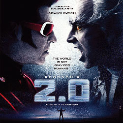2.0 (2017) Telugu Movie Audio CD Front Covers, Posters, Pictures, Pics, Images, Photos, Wallpapers