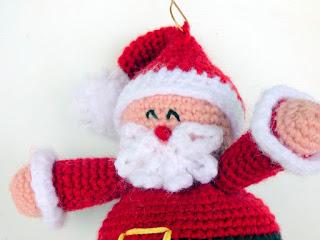 Crochet Amigurumi Santa bauble