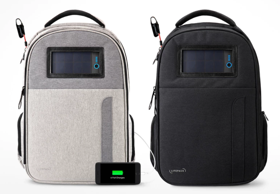 Lifepack: Solar Powered & Anti-Theft Backpack.