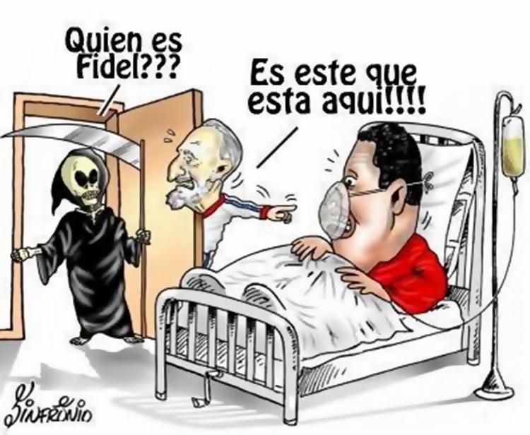 Image result for muerte de hugo chavez caricatura