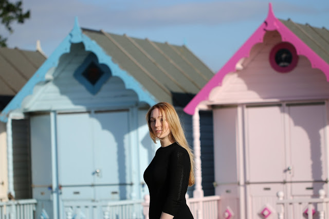 Michelle Louise Love, black jumper dress, mersea island