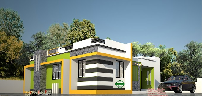 Low cost contemporary Style house in kerala