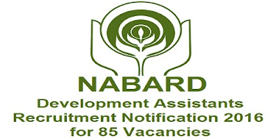 NABARD Recruitment Notification 2016