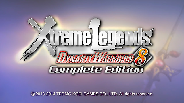 Dynasty Warriors 8 Xtreme Legends Complete Edition title screen PC