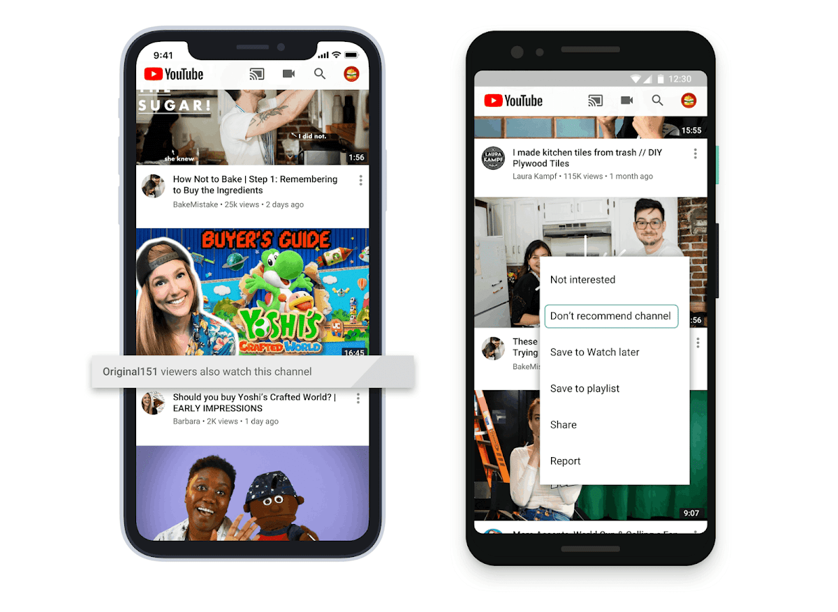 YouTube adding some tools to give people more control over recommended videos