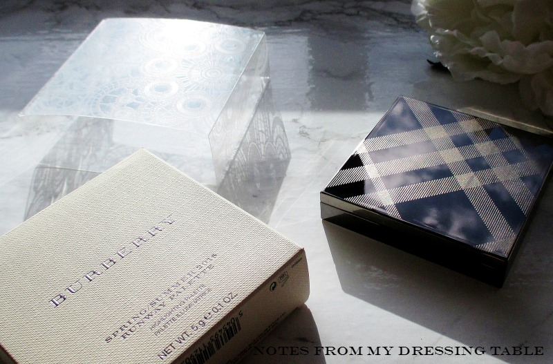 Burberry Spring/Summer 2016 Runway Palette Palette and Packaging
