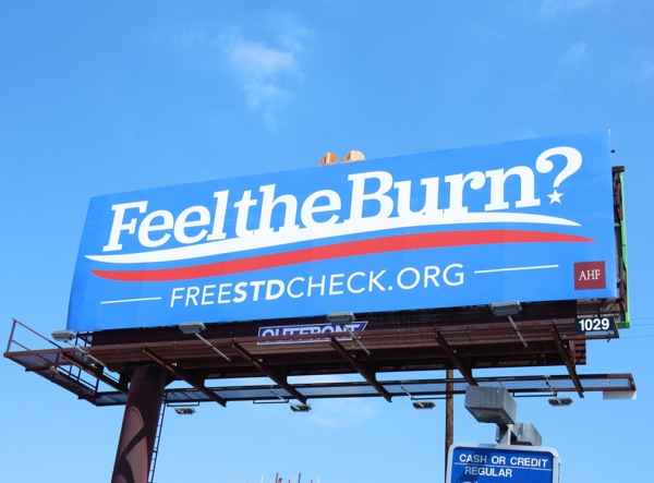 Feel the burn? Bernie Sanders spoof billboard