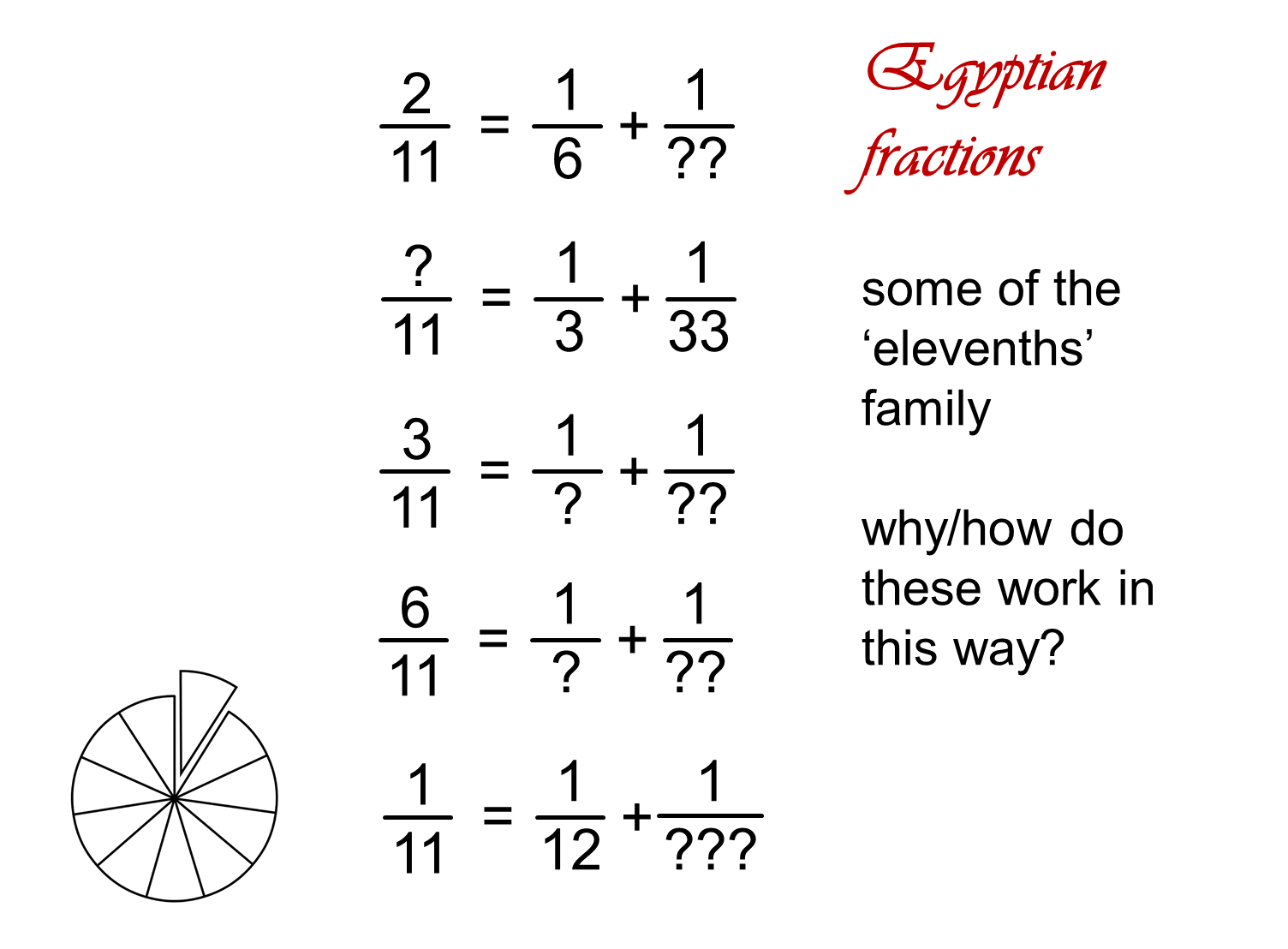 Median Don Steward Mathematics Teaching Egyptian Fractions