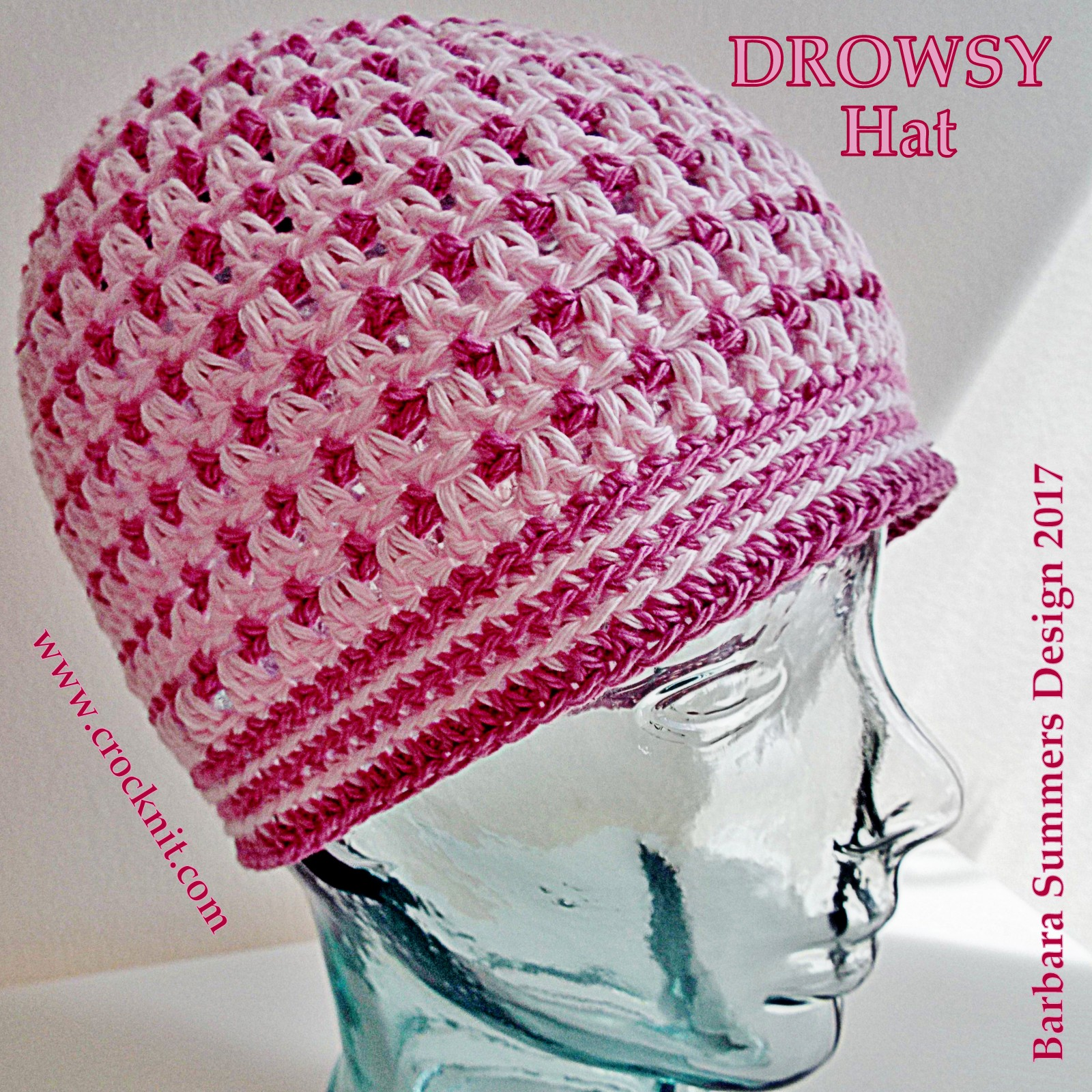 MICROCKNIT CREATIONS: SLEEP Hats Free Crochet Pattern #2 DROWSY HAT