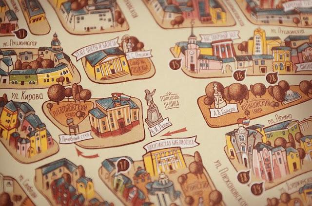 В Воронеже появилась оригинальная туристическая карта-путеводитель
