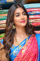 Puja Hegde looks stunning in Red saree at launch of Anutex shopping mall ~ Celebrities Galleries 032.JPG