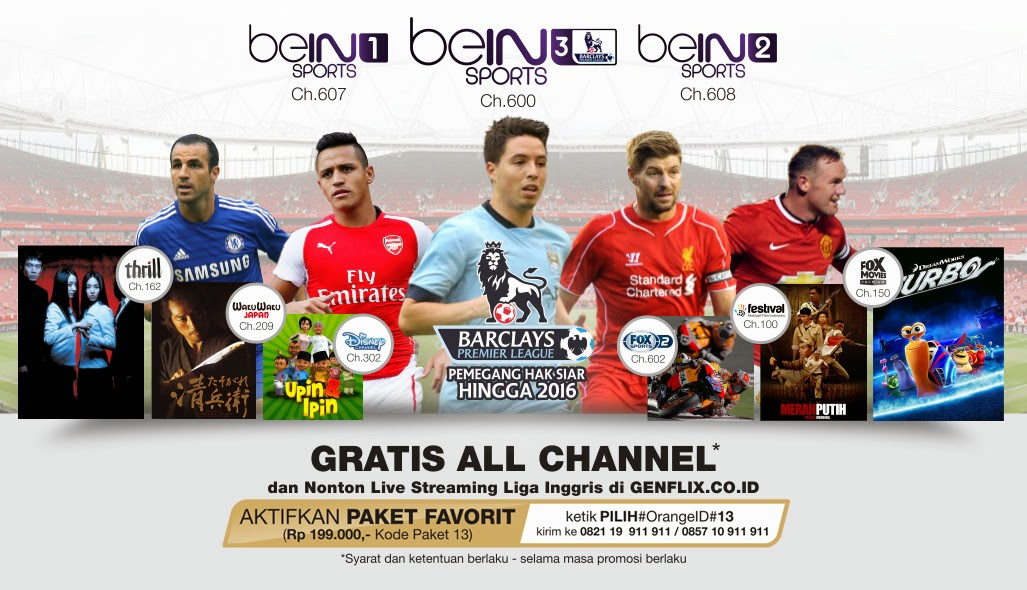 Promo Voucher Orange TV Gratis All Channel