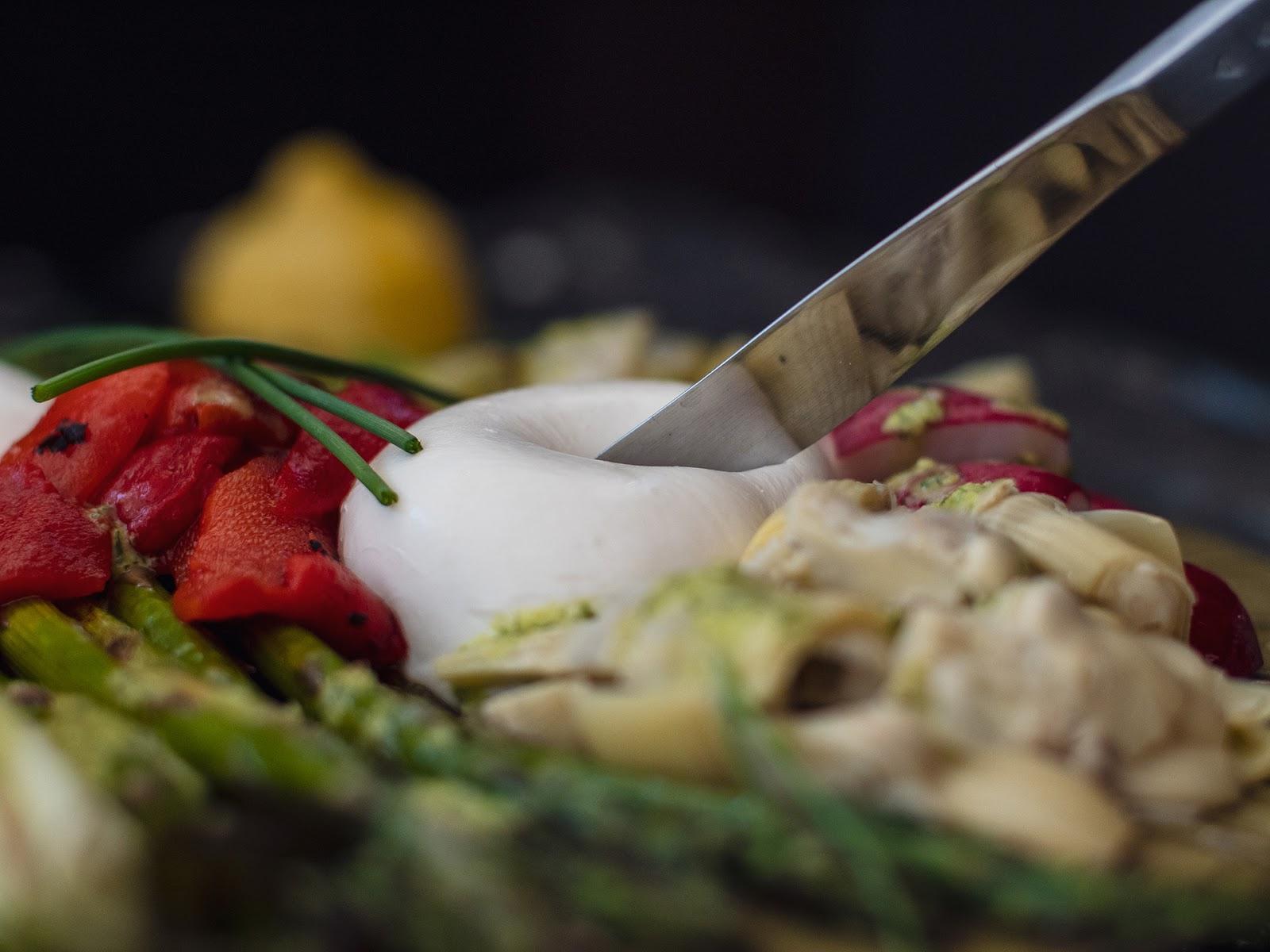 Spring Antipasto featuring Calabro Cheese Burrata di Bufala | Local Food Rocks