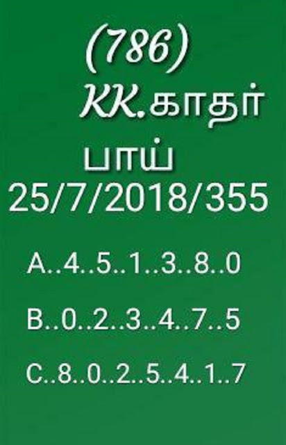 kerala lottery abc all board guessing akshaya ak-355 on 25-07-2018 by KK