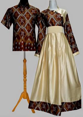 25+ Model Busana Dress Batik Kombinasi Brokat Terbaru 2018