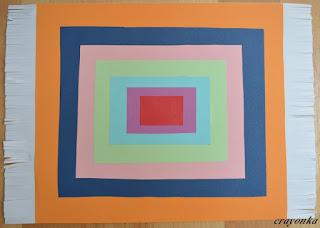 dywan z papieru - prostokąty