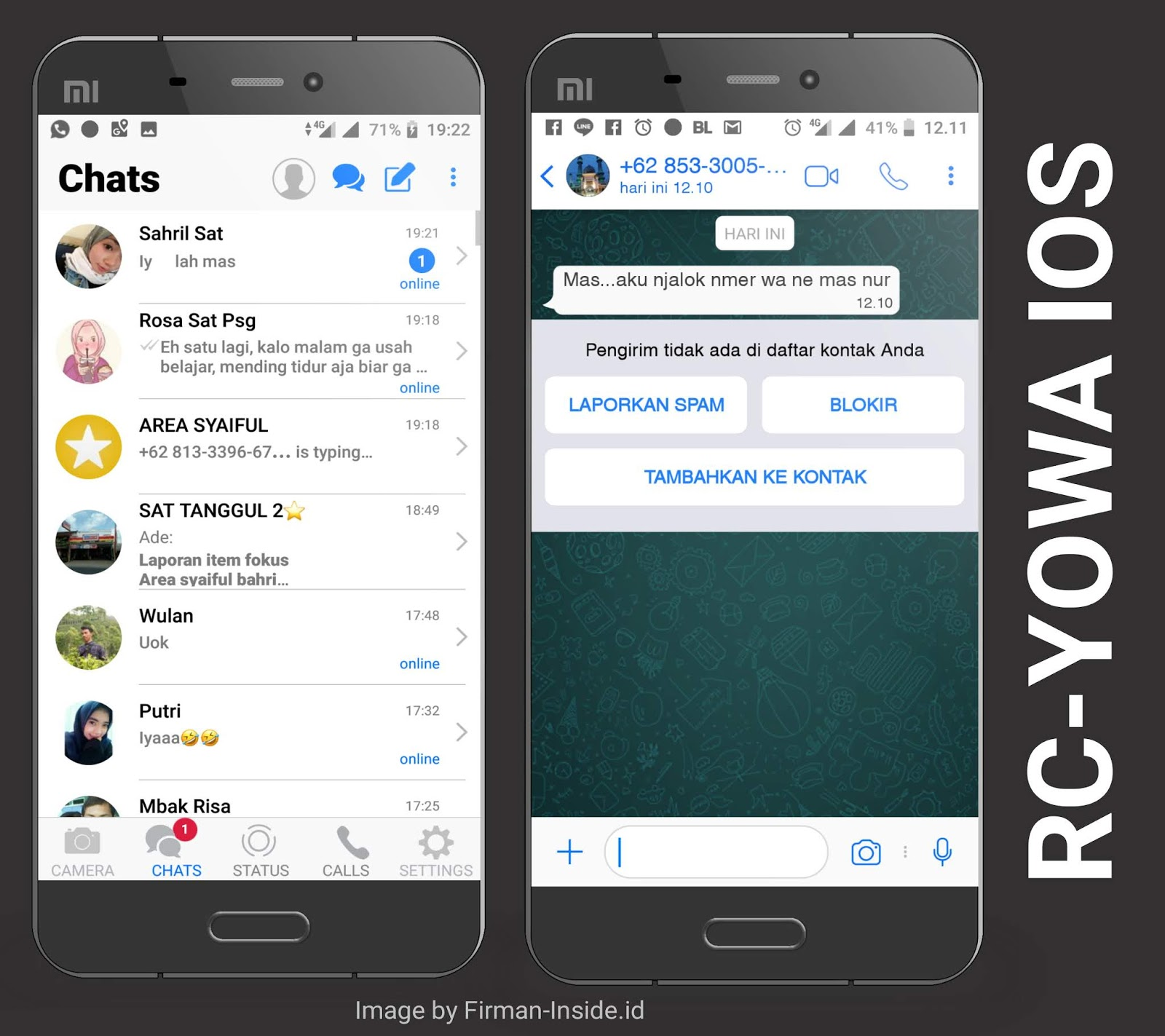 Download WhatsApp Mod IOS 12 Terbaru RC-YoWa V.7.70 TANPA ROOT