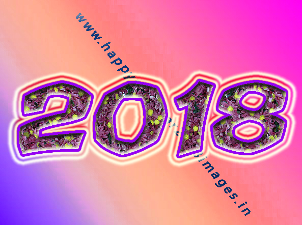 Happy New Year 2018 3D images Free Download