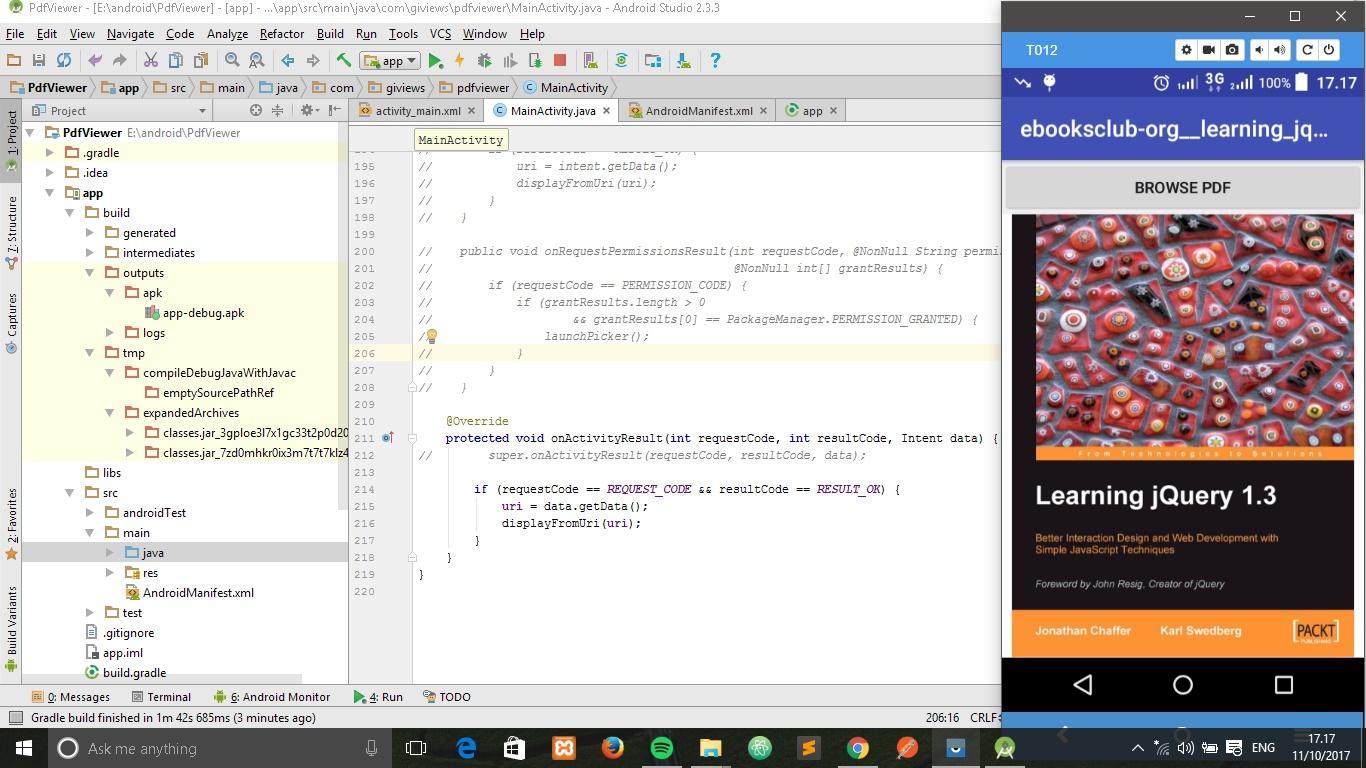 Membuat Aplikasi PDF Reader Sendiri untuk Android Menggunakan