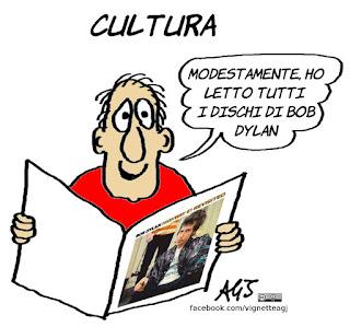 nobel per la letteratura, bob dylan, nobel, cultura, satira, vignetta