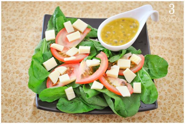 molho maracujá salada como fazer