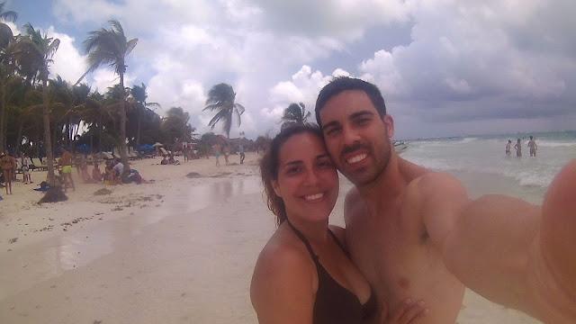 Selfie en la Playa Paraíso México
