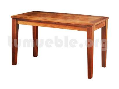 mesa comedor extensible hecho en teca 4085
