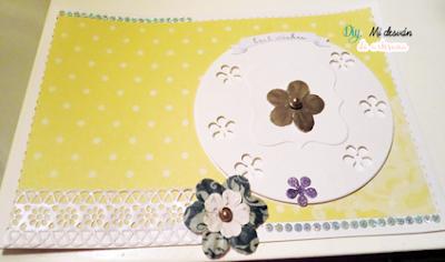Plano principal de la tarjeta amarilla para el reto 53 de 3flowers