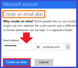 Create an outlook email alias
