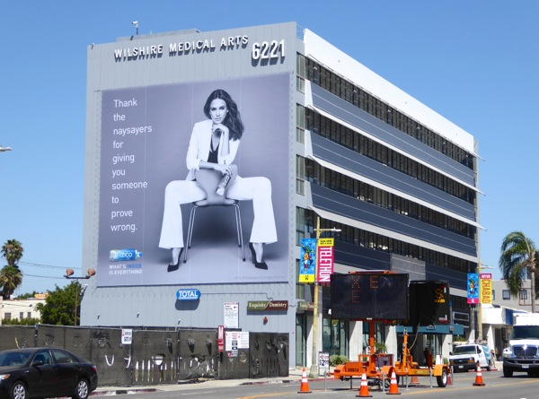 Giant Jessica Alba Zico Coconut Water 2016 billboard