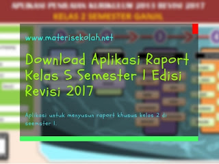Download Aplikasi Raport Kelas 5 Semester 1 Edisi Revisi 2017