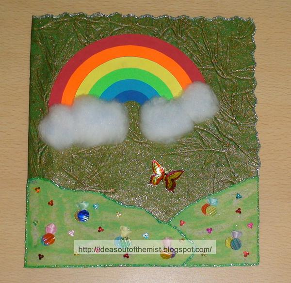 Ideas out of the mist Monsoon themed handmade invitation card for - cards party