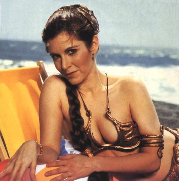 gold picture leia princess bikini